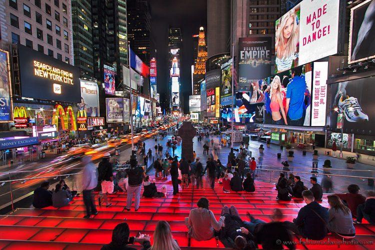 times square di notte