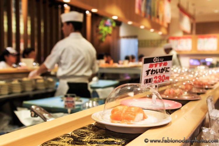 sushi ad hokkaido in giappone