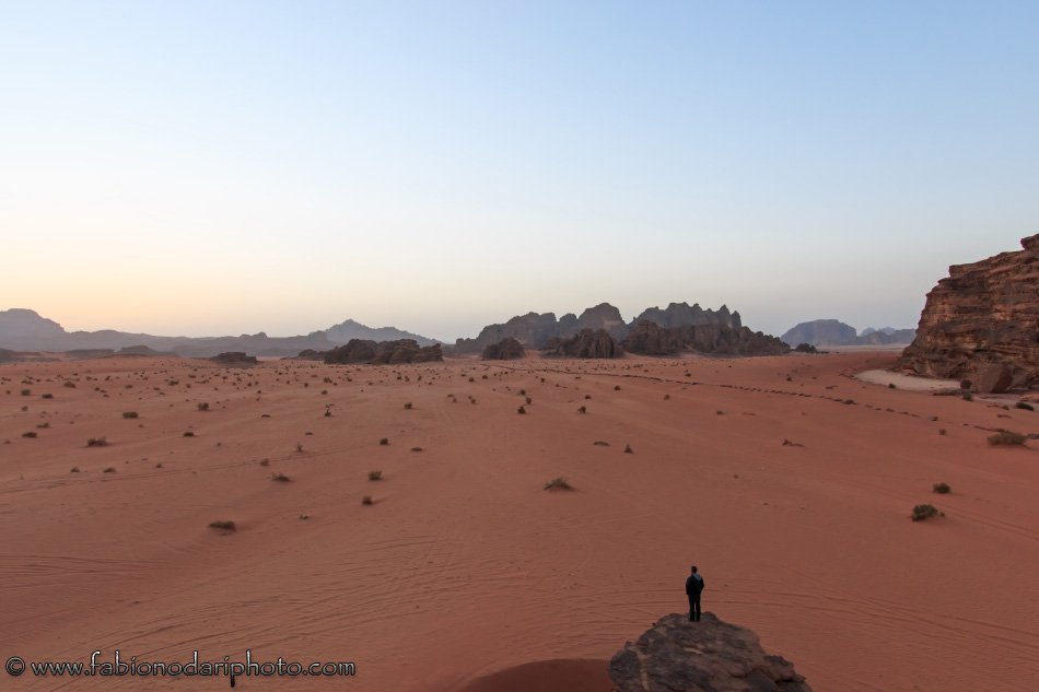 wadi rum at sunset in jordan