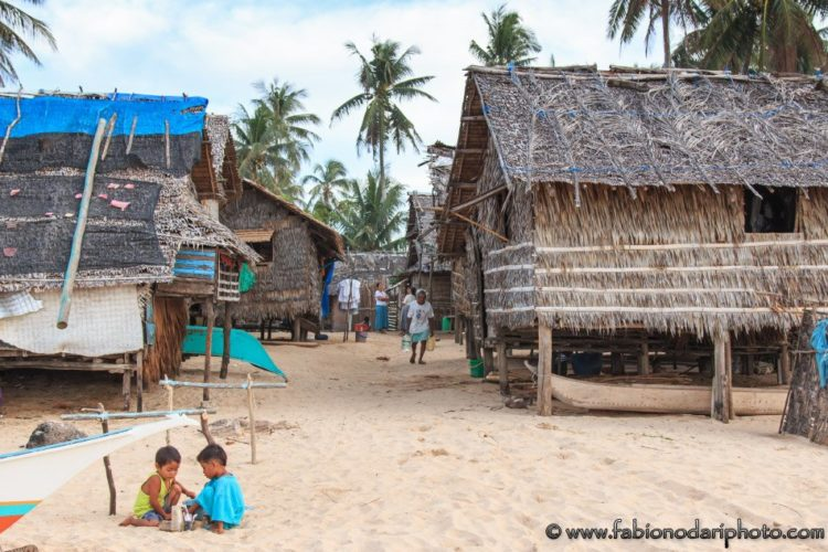 fisherman village in nacpan n the philippines