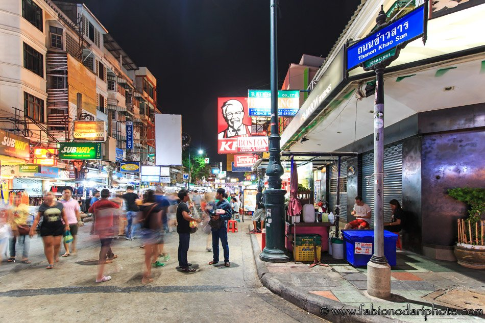 kaoh san road in bangkok thailand