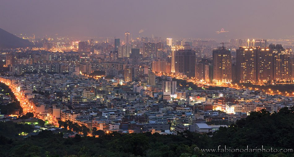 kaohsiung in taiwan by night
