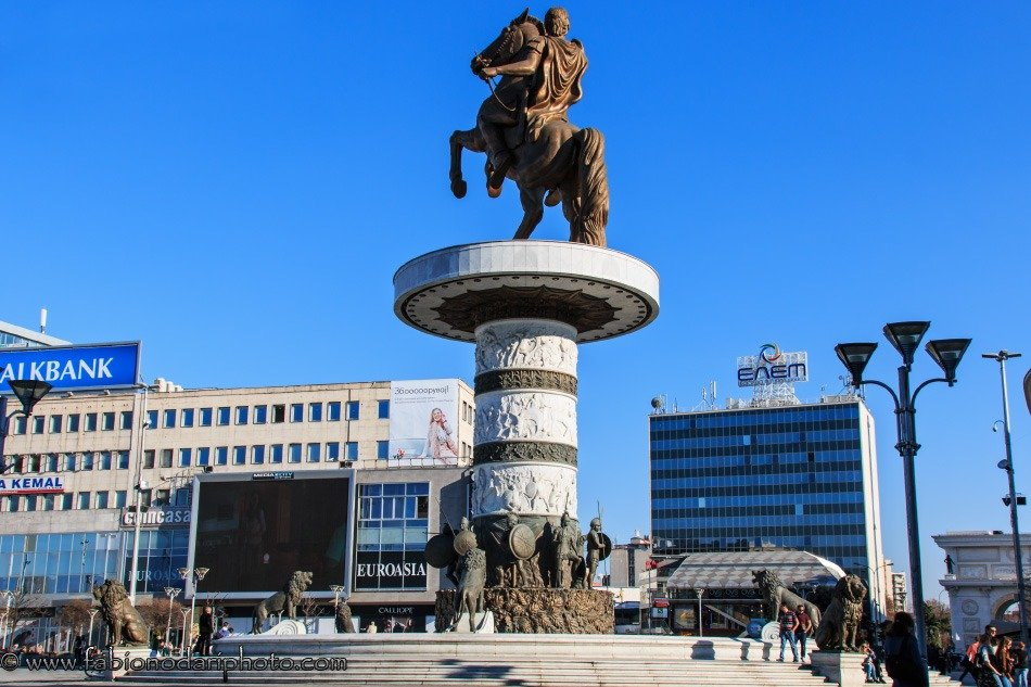 main squareof skopje