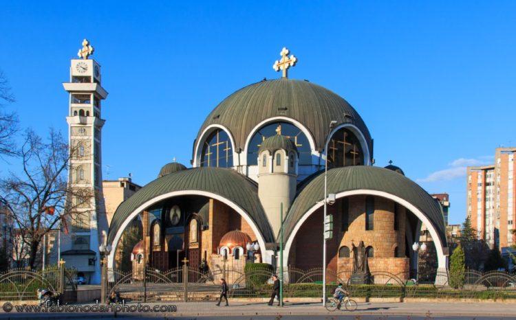 chiesa ortodossa a skopje in macedonia