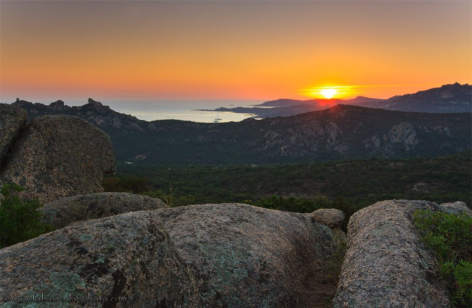 sunset in corsica