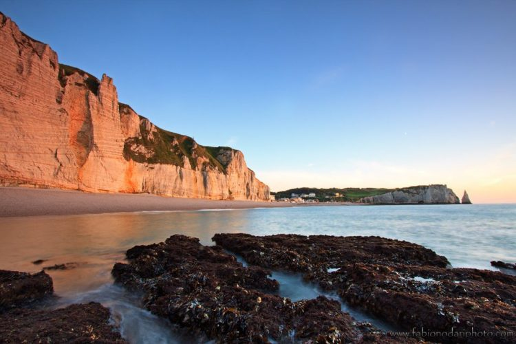 cliff in Etretat in southern normandy