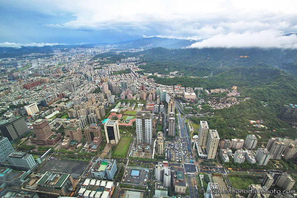 taipei skyline from taipei 101