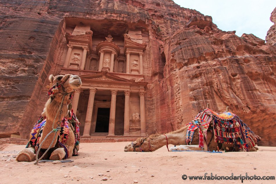 the treasury of petra in jordan