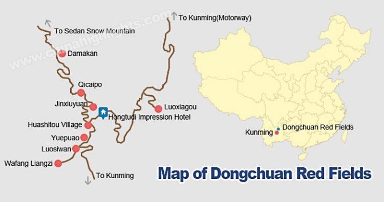 mappa di dongchuan