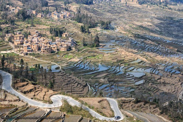 terrazze di riso di YuanYang nello yunnan