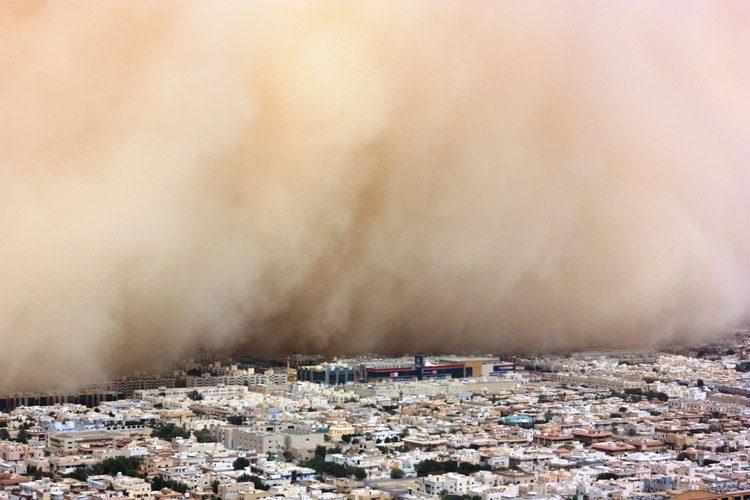 pollution in riyadh