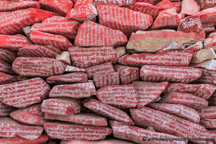 mani stones qinghai tibet