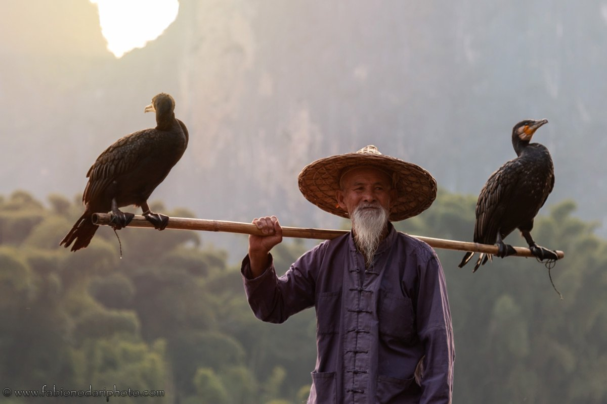 fisherman cormorant